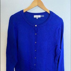 Calvin Klein blue button up cardigan XL